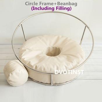 Dvotinst новорожденных реквизит для фотосъемки позирует рамка Кресло-мешок аксессуары для студии Bebe Poser подушка для новорожденных фото реквизи...