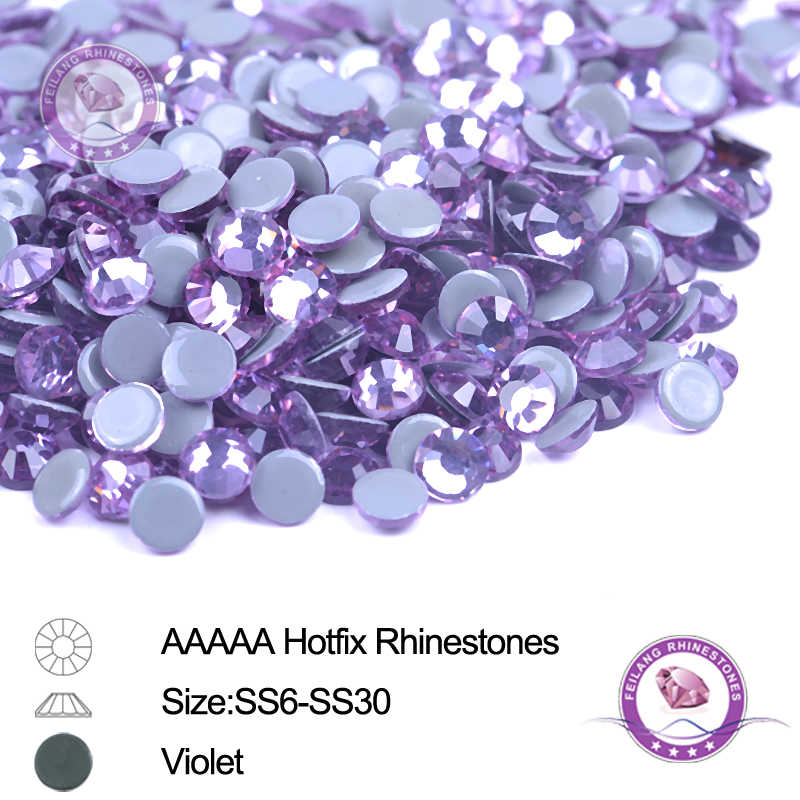 Germany Glue Violet Hotfix Rhinestones SS6 SS10 SS16 SS20 SS30 AAAAA Iron  Glass Beads 6cd7c2f517bb