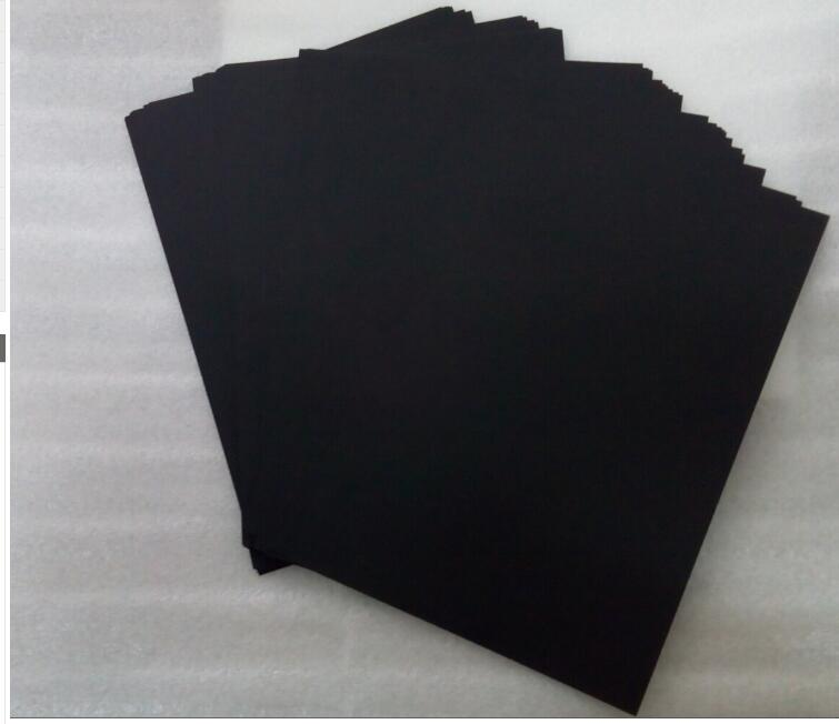 50 sheets a4 blank black paper 250gsm recycled thick cardboard black