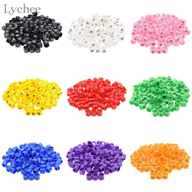 Lychee 100 stücke Farbige Kunststoff Größe Marker Aufhänger Sizer ...