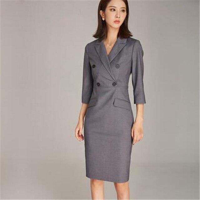 b127bca4f Nuevo mujeres OL chaqueta vestido de trabajo de moda desgaste de las mujeres  vestido de ropa