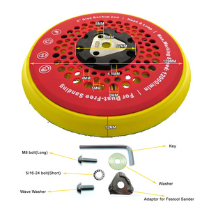 "Image 3 - 6"" 150mm 53 Hole Sanding Pad Multi functional Dust Free Backing Plate Hook and Loop"