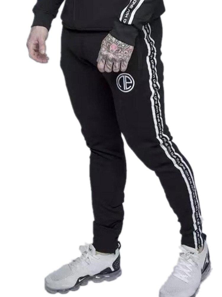 847d112294edc YEMEKE Printemps GYMNASES Hommes Joggers Pantalon Remise En Forme De Mode  Casual Marque Joggeurs pantalons de Survêtement Bas Snapback Pantalon Hommes  ...