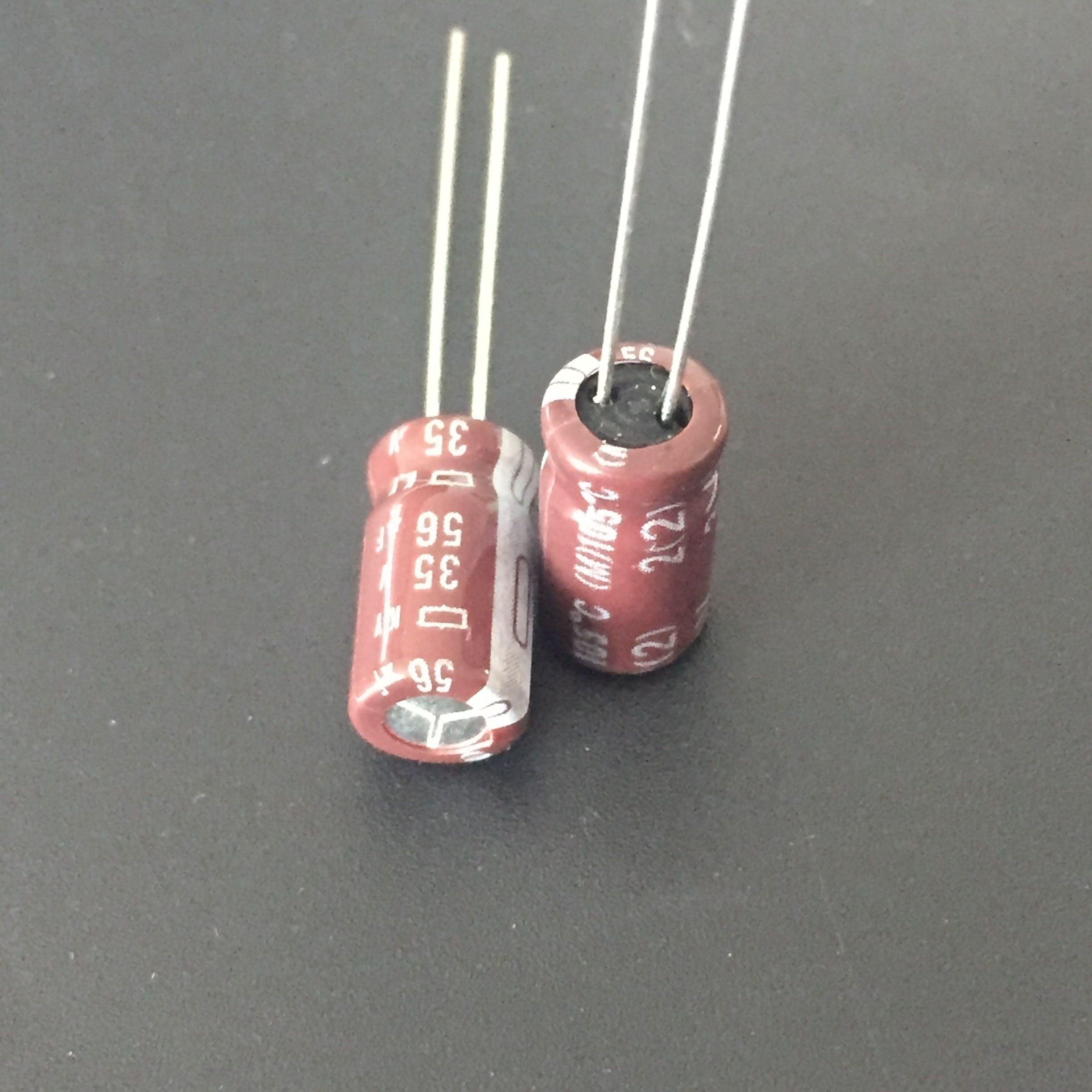 10pcs 56uF 35V NIPPON KY Series 6.3x11.5mm Low ESR 35V56uF Aluminum Electrolytic Capacitor