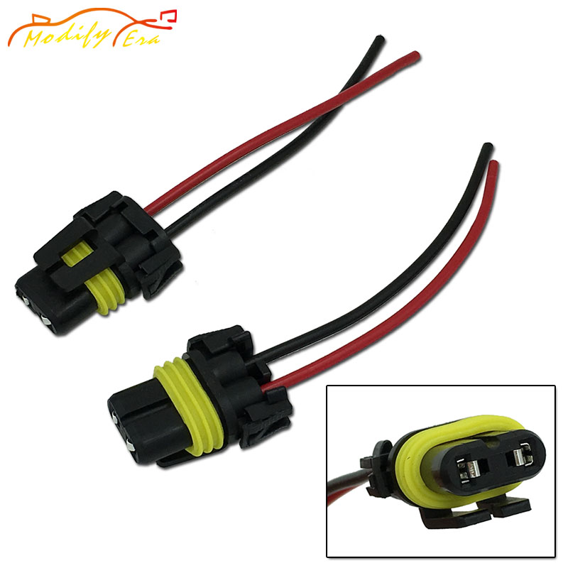 Modify.Era 2pcs 9006 HB4 9012 Car Led Bulbs Lamps Sockets Adapter Connector Harness Wiring Wire For Car Headlight Fog Light