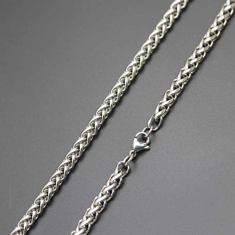 Amya Fashion Silver Chain 316L Stainless Steel Lanterns Necklace Chain For women men locket pendant