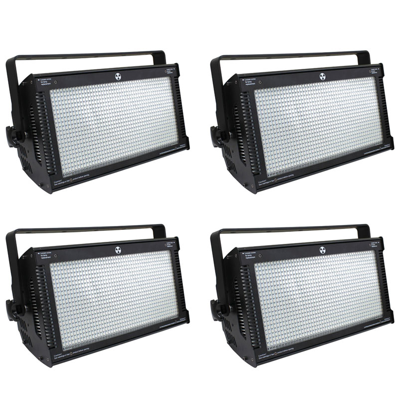 Commercial Lighting 4pcs/lot 1000w Dmx Lights Rgb Led Flashing Strobe Professional Atomic 3000 Led Strobe Light With High Brightness To Produce An Effect Toward Clear Vision Back To Search Resultslights & Lighting