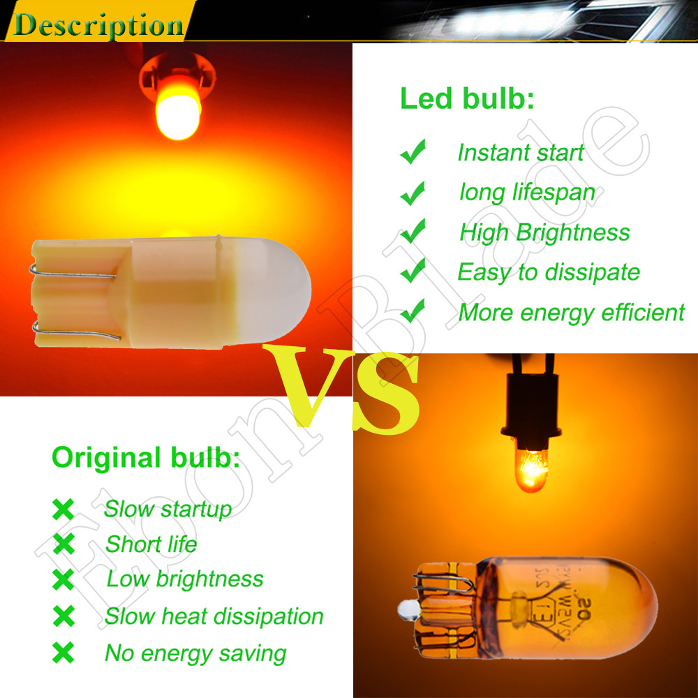 2 X W5W LED T10 194 168 Car Light LED 3030 1SMD Auto Automobiles Interior Dome Reading Bulb License Door Lamp DRL Car Styling 12 in Signal Lamp from Automobiles Motorcycles