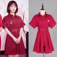 New 2019 Summer Dress Fox Short sleeved Shirt Dress Fashion