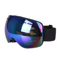Inverno Motocicleta Biker Óculos Gafas Óculos de Esqui Duplo Camadas UV400 Motocross Óculos De Proteção Ao Ar Livre Óculos de Proteção Anti-nevoeiro óculos de Neve