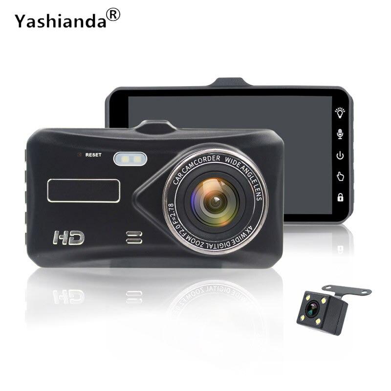 Yashianda Car DVR Camera 4.0 Inch HD Car Tachograph Front USB Full HD 1080P Video Recorder Detection Loop Recording Dash Cam