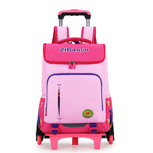 Детский рюкзак на колесах для путешествий, рюкзак на колесиках, школьная сумка-тележка для мальчиков и девочек, детский дорожный Багаж, школьная сумка, рюкзаки