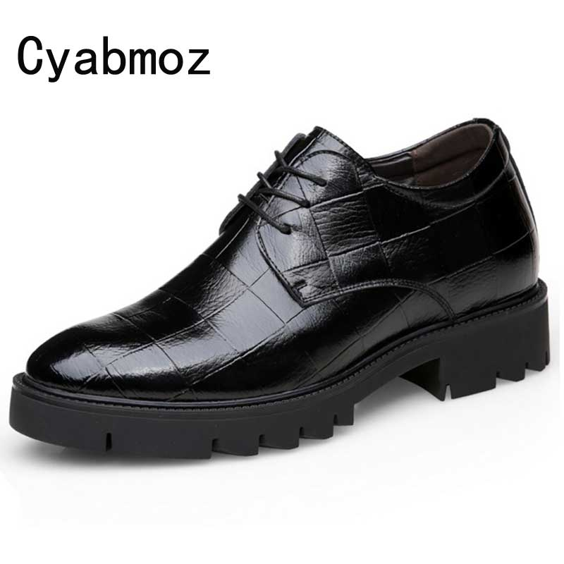 New Mens Casual Shoes Height Increase 6cm/8cm/10cm Thick Sole Platform Fashion Men Footwear Wedding Elevator business Shoes man
