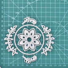 Eastshape Flower Circles Dies Floral Branch Wreath Round Metal Cutting Stencils for DIY Scrapbooking Album Paper Embossing