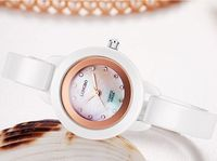 Long Wave Of High Grade Ceramic White Waterproof Really Watches Female Korean Fashion Ladies Watches Wholesale