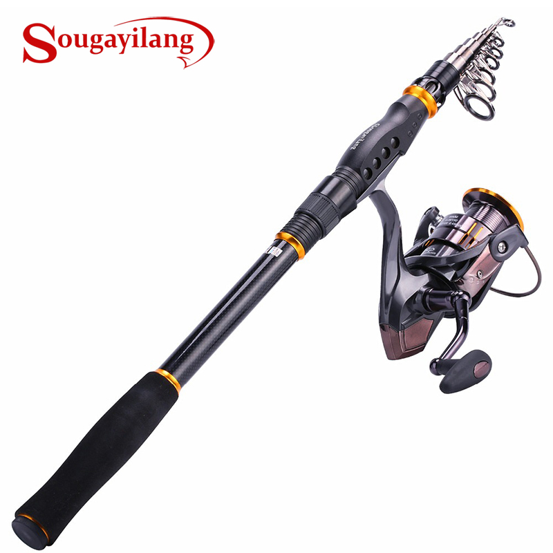 Fishing Rod Reel Combos Carbon Telescopic Fishing Rod Pole with Spinning Reel Combo Sea Saltwater Freshwater