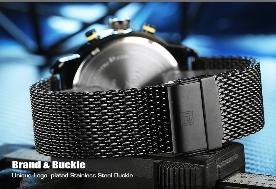2017 NAVIFORCE De Luxe Marque Hommes de Quartz Analogique 24 Heure Date montres Homme 3ATM Imperméable À L'eau Horloge Hommes Sport Complet Bracelet En Acier montre 9