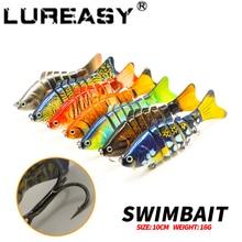 LUREASY Swimbait 8.5cm 11g 3D eyes multi-stage life-like fishing lure hard temptation Crankbait and 6# hook bait