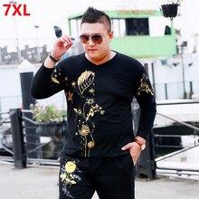 39a4262c8c550 Outono plus size XL longo-manga comprida t-shirt primavera e no outono  trecho grande camisa dos homens extra grande camisa assen.