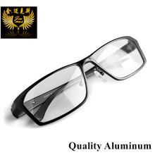 2016 Nuevos Hombres de la Llegada Estilo Aliuminum Anteojos borde Completo Marco Óptico de Los Hombres de la Marca de moda de Diseño Clásico Estilo Gafas Para hombres(China (Mainland))
