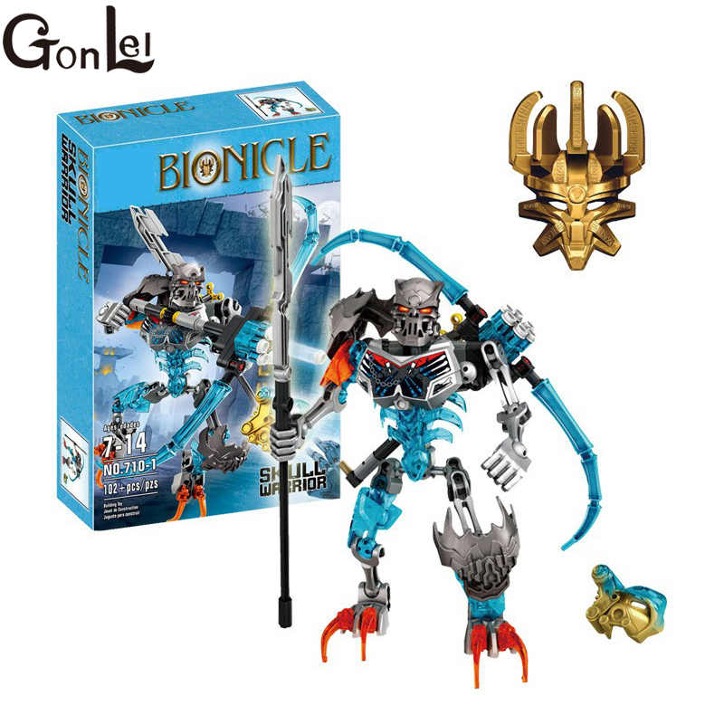 GonLeI 2016 new hot sale Bionicle load of skull warrior XZS 710-1 Building Block Toys Action 710-1 compatible