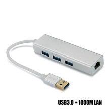 Wechip высокое Скорость 3 Порты USB 3,0*3 концентратор USB к lan Порты и разъёмы RJ-45 USB Hub Портативный OTG HUB разветвитель USB Hub для адаптера компьютер