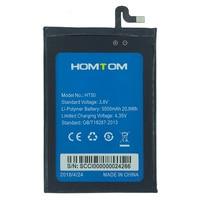 В наличии Новый 5500 мАч для HOMTOM HT50 Батарея сотовый телефон + номер для отслеживания