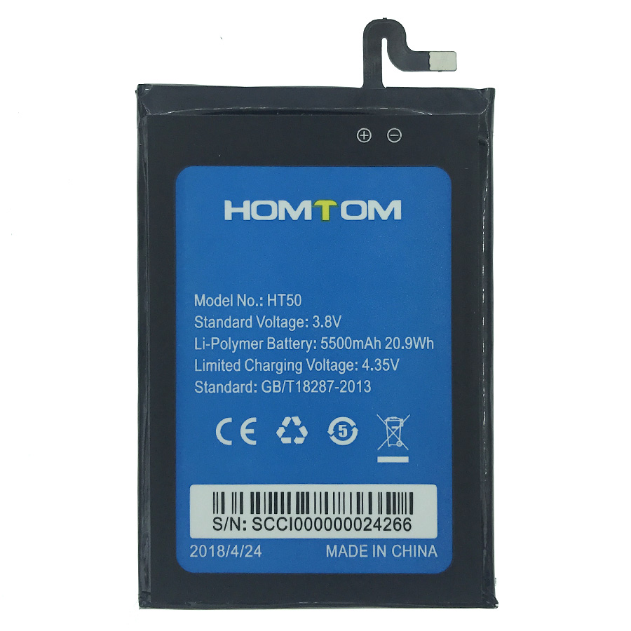 IN Stock NEW 5500mAh For HOMTOM HT50 Battery Cell Phone +Tracking Number