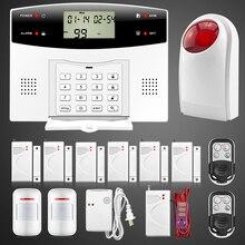 Новый Quad Band GSM PSTN Охранная Система Беспроводной Пульт Дистанционного Управления Высокого класса Двери Датчик Движения Детектор комплект 433 мГц