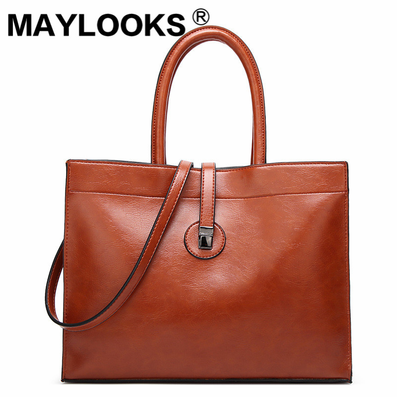 2019 new wave womens handbag fashion tote bag oil wax shoulder shoulder bag M-AS7232019 new wave womens handbag fashion tote bag oil wax shoulder shoulder bag M-AS723