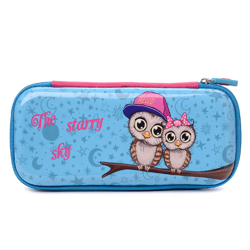 купить Kawaii Cute Cat Owl Bear Pencil Case Creative Cartoon EVA Penal School Pencilcase for Girls Boys Pen Bag Box Stationery Pouch по цене 808.49 рублей