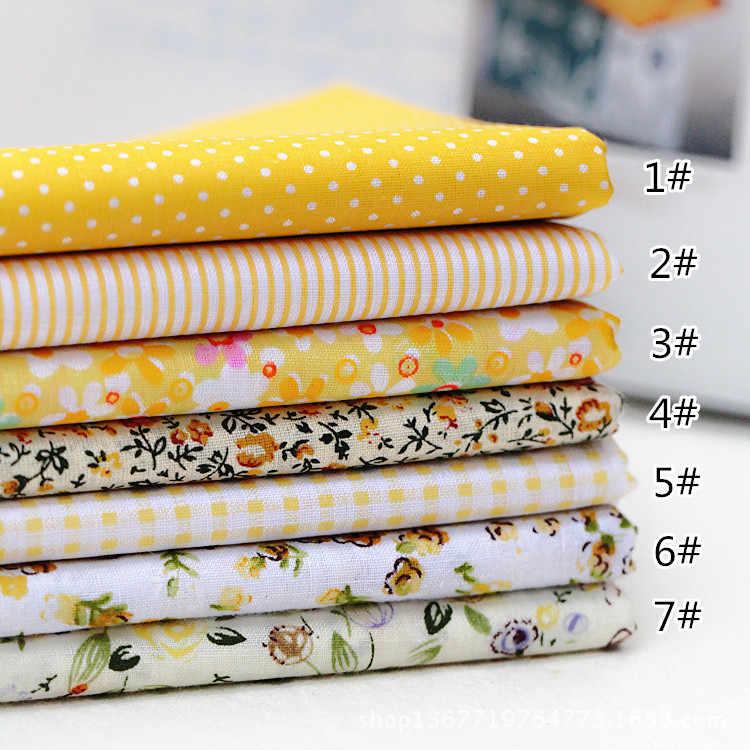 7 cái DIY Các Loại Mô Hình Hoa In Chắp Vá Bông Vải Thủ Công Mỹ Nghệ Vải Bó May Quilting 25x25 cm