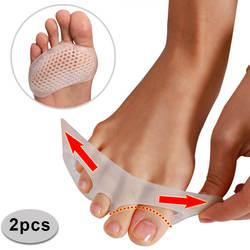 Удобные носок сепаратор плюсневой корректор для стопы обувь подушки 1 пара подушечки для ног силиконовый гель шок анти стопы Pad