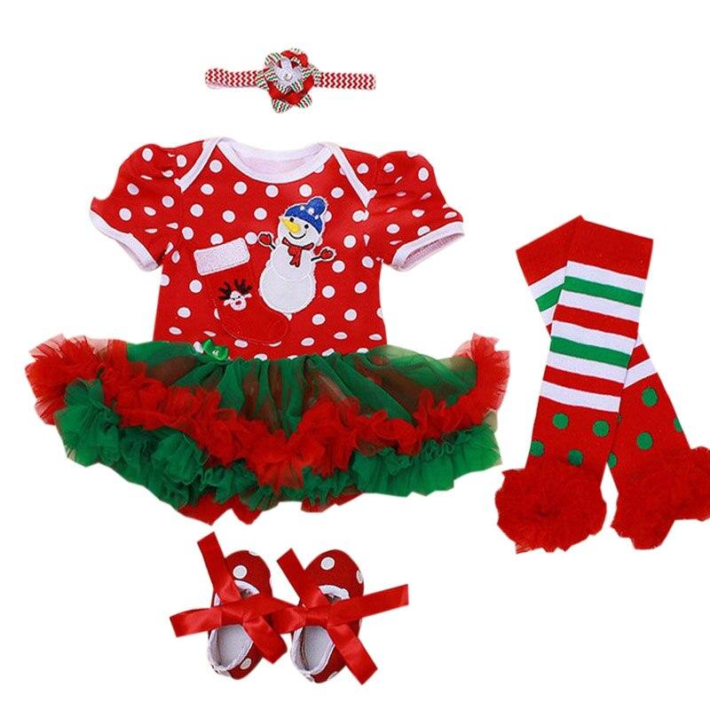 Ξ4 unids por juego bebé Niñas Navidad traje muñeco de nieve patrón ...
