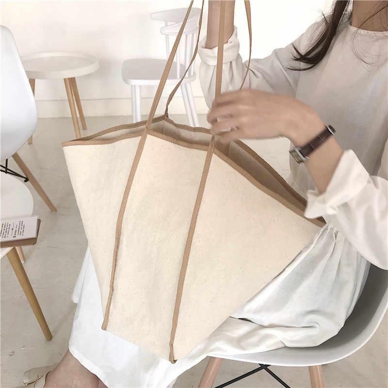 Парусиновая, в Корейском стиле для женщин сумки сумка в виде летучей мыши большой ёмкость Женский Большой Мужская тотализаторов леди сумки на плечо bolsa сумка шоппер 2019 Новый