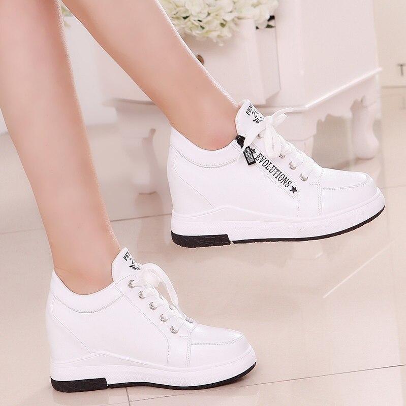 Perte de poids des femmes de femmes de mode de plate-forme des femmes coins 6 cm haute plate-forme chaussures décontractées femmes
