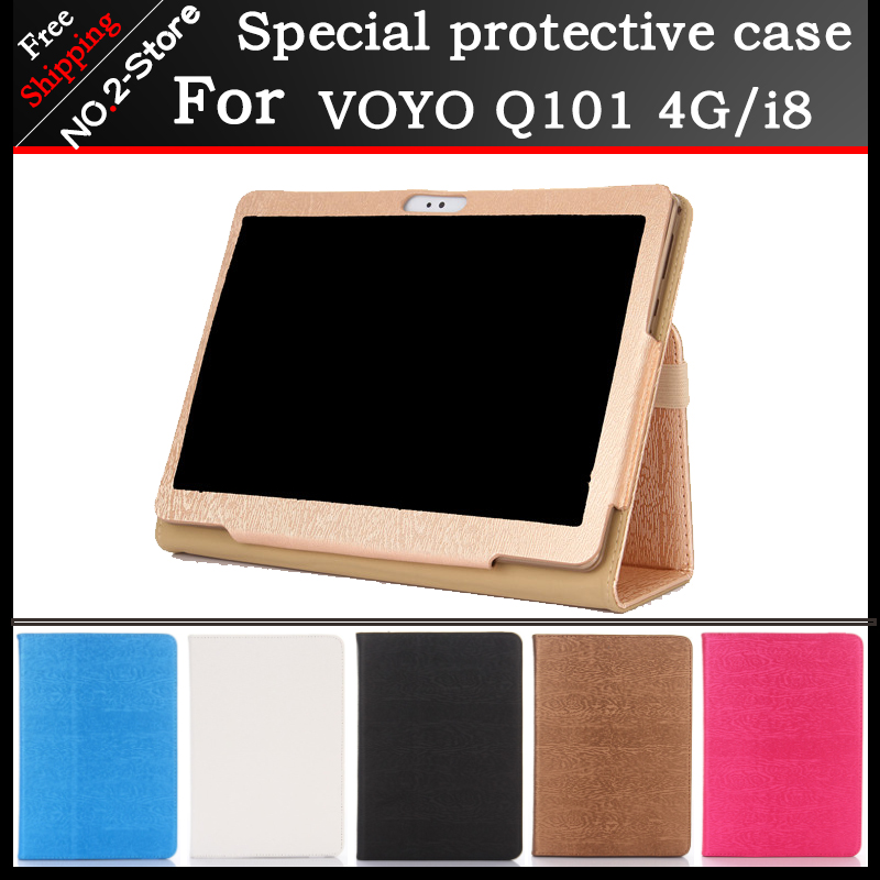 Fashion 2 fold Folio PU leather stand cover case for VOYO Q101 4G i8 call phone