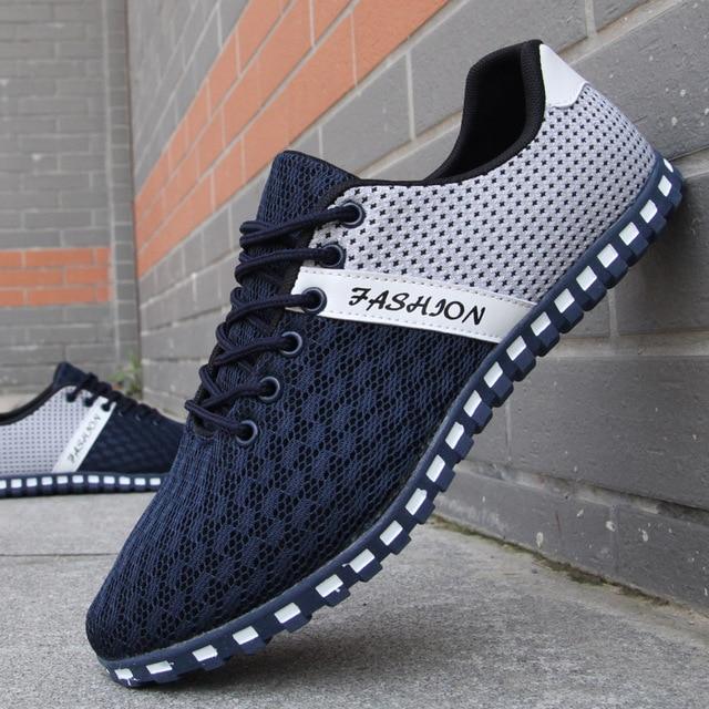 2017 новые мужские повседневная обувь сетка обувь для мужчин спортивная обувь Дышащий мода лето Квартиры открытый классический мужской обуви