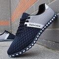 2017 sapatas novas dos homens sapatos casuais malha sapatos para homens sapatas do esporte Respirável moda verão Apartamentos sapatos ao ar livre masculino clássico