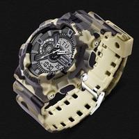 SANDA Top Brand Men Sports Watches Digital Quartz LED Military Watch Camouflage Multifunctional Wristwatches Relogio Masculino