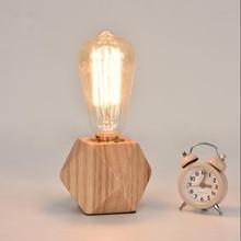 Современные Настольная лампа LED восстановление древних способов деревянный стол свет внутреннего освещения бюро кроватями офисные настольные лампы-не реветь