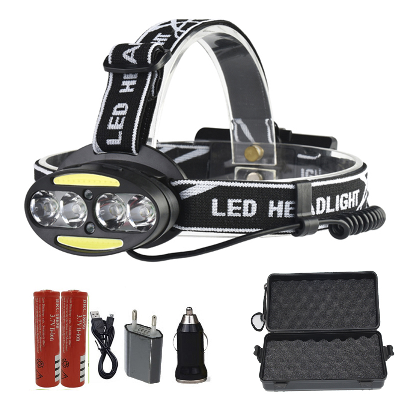 Z20 Headlight 30000 Lumen headlamp 4* XM-L T6 +2*COB+2*Red LED Head Lamp Flashlight Torch Lanterna with different accessories r3 2led super bright mini headlamp headlight flashlight torch lamp 4 models