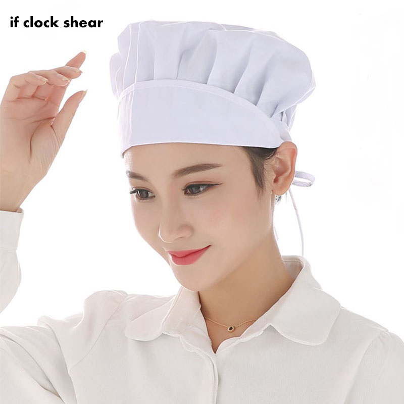 Wholesale Chef Hat Female Kitchen Sanitation Cap Canteen Restaurant Food Bakery Baking Ventilation Hat Hotel Uniform Chefs Hat
