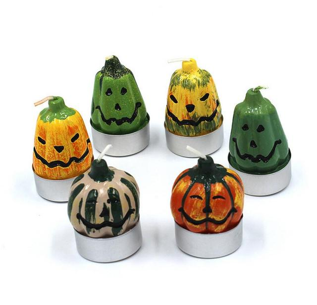2017 New creative new style Lovely Halloween Pumpkins Candle Cake Decorating Child Birthday Gifts Festival Party Supplies