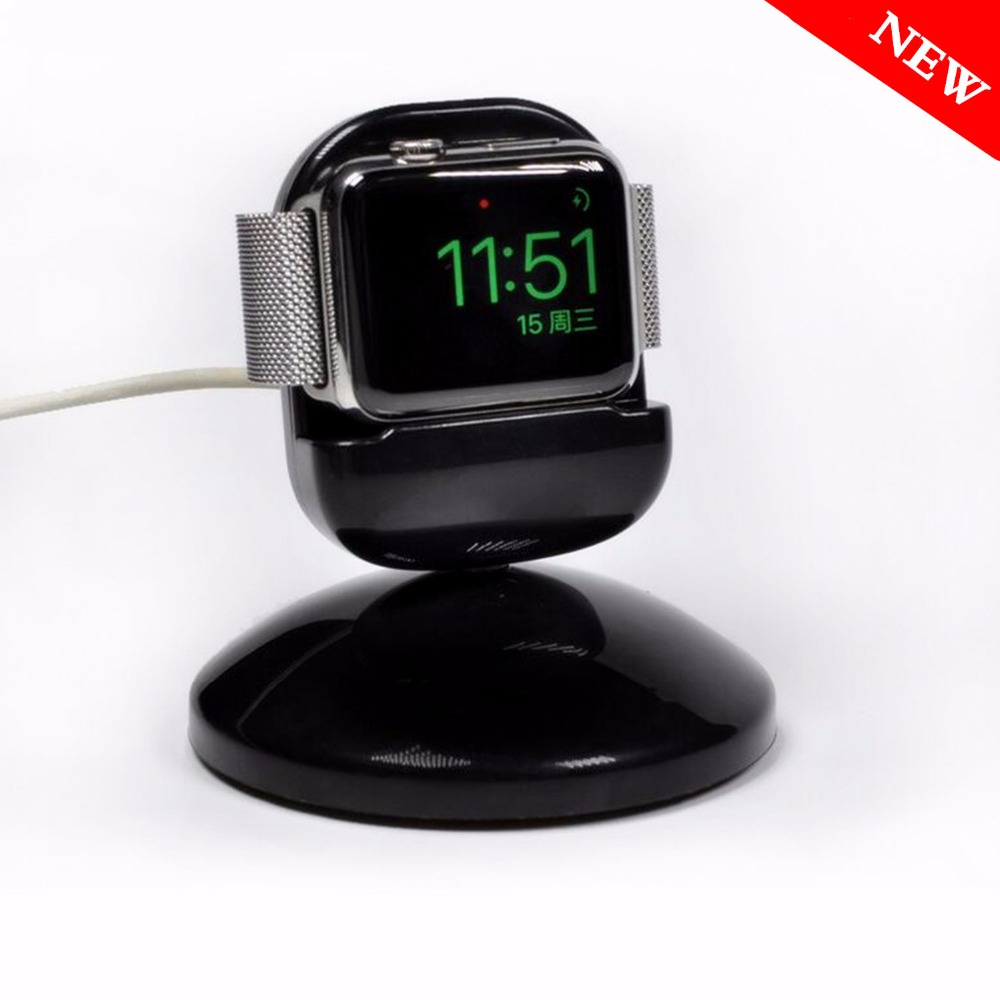 CRESTED Charging dock For Apple Watch 4/3/2/1 iwatch 44/42/40/38mm Charger Station stand fit Night Bedside clock unique design 1pc usb charging cable charger dock station for huawei watch 2 smart watch 1m desktop charger cradle cable for huawei watch 2