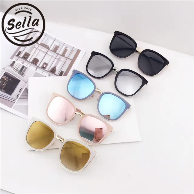 13ffe21d4cd Sella Fashion Ladies Colorful Square Mirror Lens Sunglasses Trending Women  Pink Blue Reflective Oversized Sun Glasses