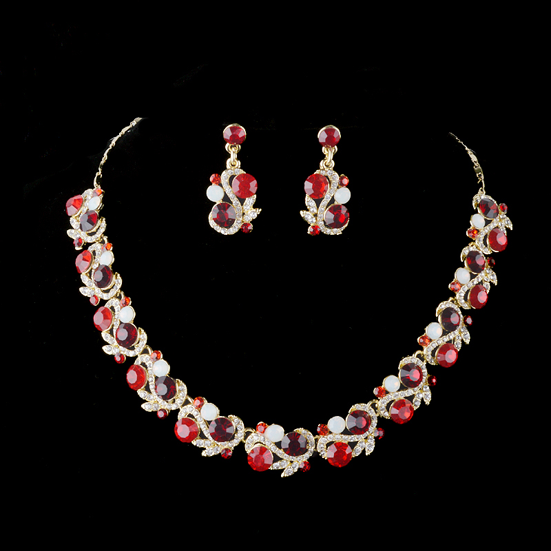 Cezch stone india style jewelry set Delicate women's party ...