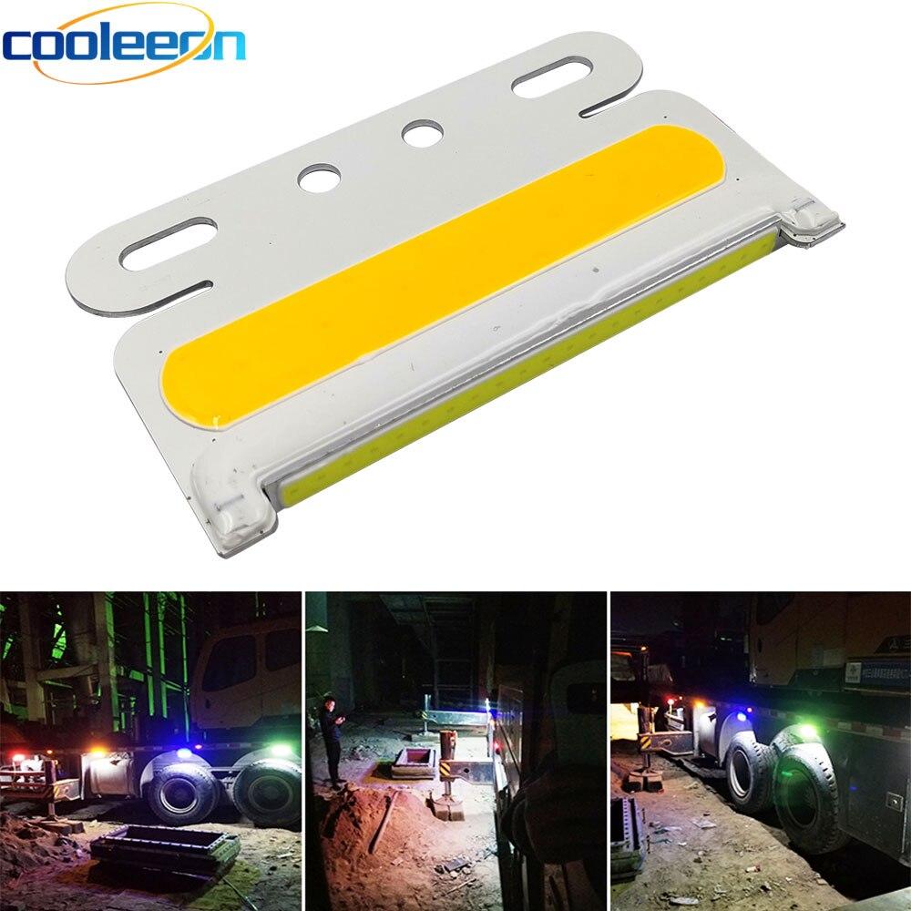 5 pièces camion COB lumière latérale haute lampe de Signal lumineux étanche camion LED tournant lumières 24V camion nuit en cours d'exécution ampoule éclairage