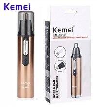KM-6619 персональный Электрический Уход за лицом тример для мужчин и женщин бровей Триммер для носа, ушей Триммер для удаления волос