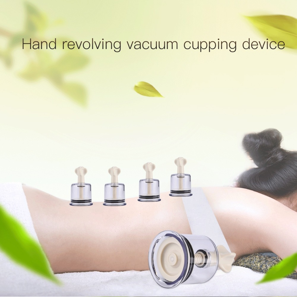 4 Hand Revolving Vacuum Cupping Whole Body Massage Anti -9199